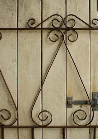 イギリスアンティーク アイアンフェンス ゲート柵 ガーデニング 2591