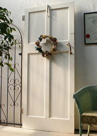 イギリス アンティーク 木製ドア 扉 ディスプレイ 建具 2897