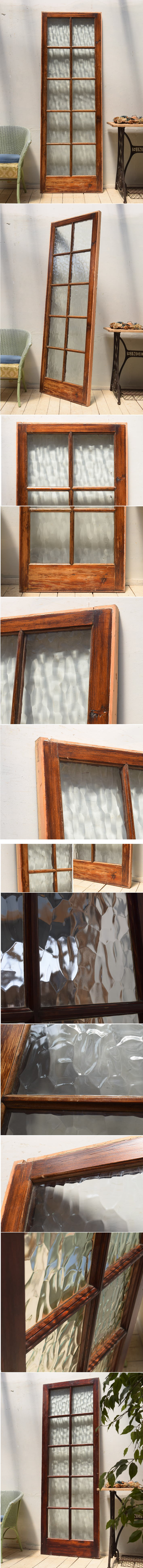 イギリス アンティーク ガラス間仕切り 扉 ディスプレイ 建具 4025