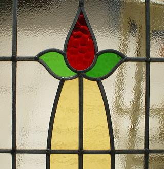 イギリス アンティーク ステンドグラス 幾何学 5383