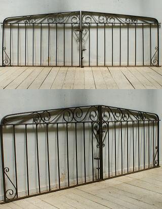 イギリス アンティーク アイアンフェンス ゲート柵 ガーデニング 5422