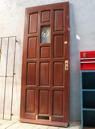 イギリス アンティーク ガラス入り木製ドア 扉 ディスプレイ 建具 6124