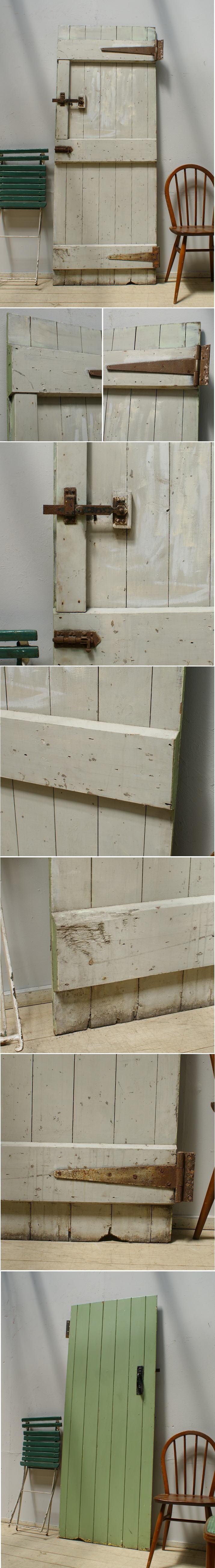 イギリス アンティーク 木製ドア 扉 ディスプレイ 建具 6269