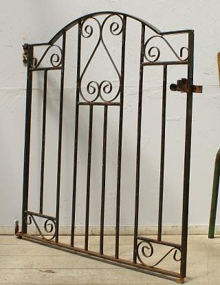 イギリスアンティーク アイアンフェンス ゲート柵 ガーデニング 6418