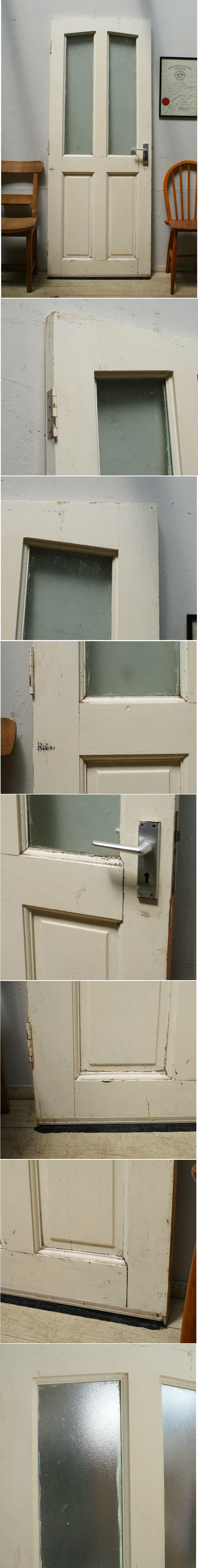 イギリス アンティーク ガラス入り木製ドア 扉 ディスプレイ 建具 6421