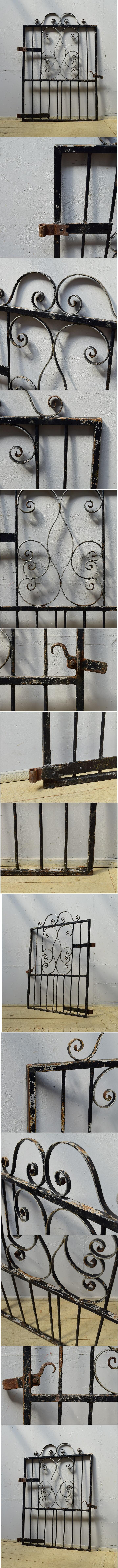 イギリスアンティーク アイアンフェンス ゲート柵 ガーデニング 6520