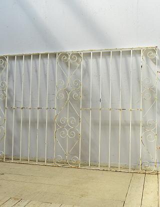 イギリス アンティーク アイアンフェンス ゲート柵 ガーデニング 6529