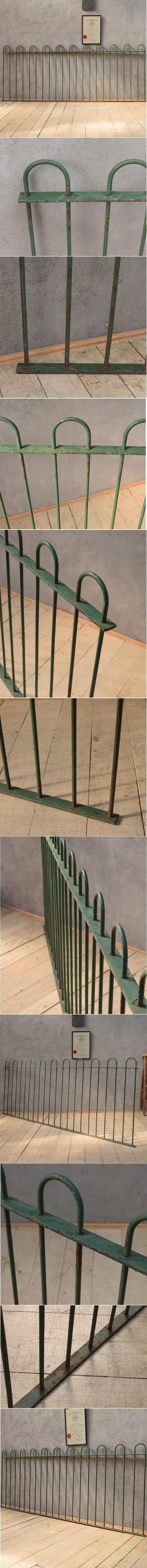 イギリス アンティーク アイアンフェンス ゲート柵 ガーデニング 6591