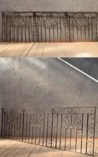 イギリス アンティーク アイアンフェンス ゲート柵 ガーデニング 6630