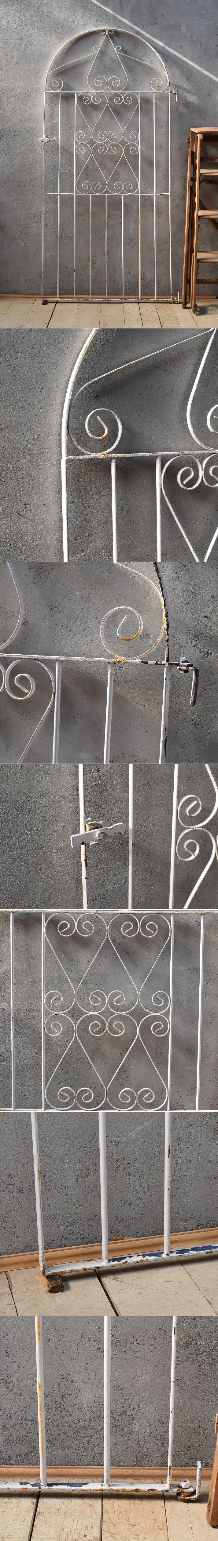 イギリスアンティーク アイアンフェンス ゲート柵 ガーデニング 6642