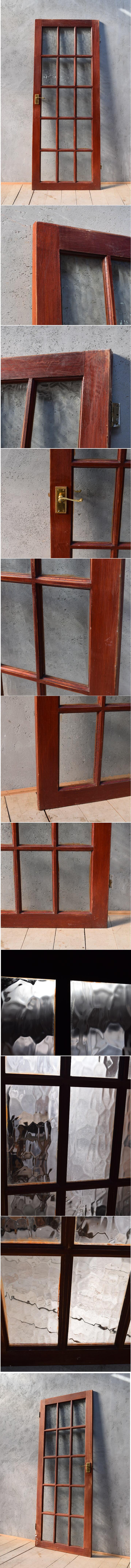 イギリス アンティーク ガラス入り木製ドア 扉 ディスプレイ 建具 6647