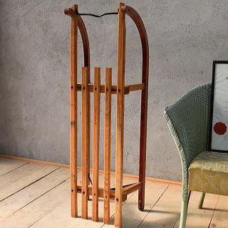 (旧)東ドイツ製 アンティーク 木製ソリ 6681