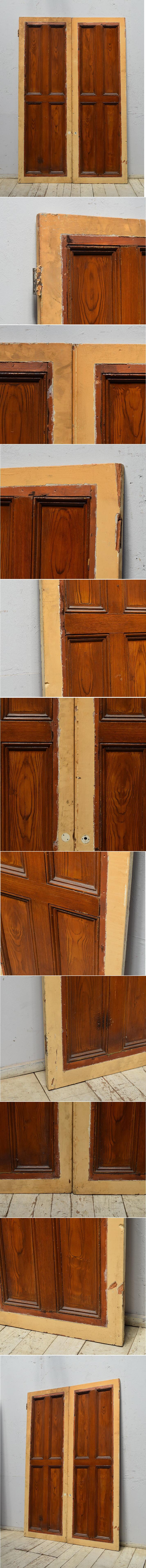 イギリス アンティーク カップボード 扉 ディスプレイ 建具 6868