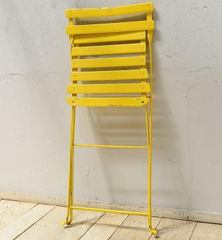 フレンチ アンティーク フォールディング ガーデンチェア 椅子 6897