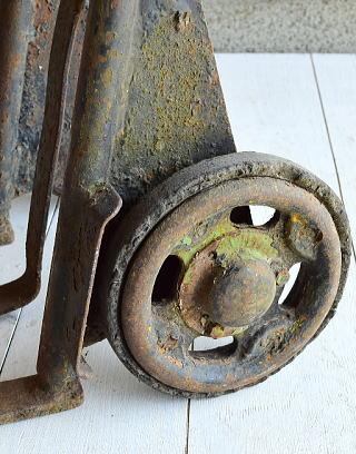 イギリス アンティーク 二輪カート 台車 6941
